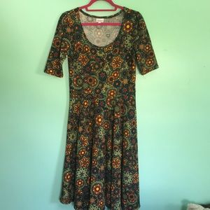Kaleidoscope Medium lularoe Nicole dress